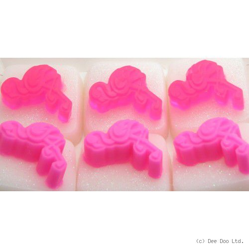 Flamingo Soap Square by Dee Doo