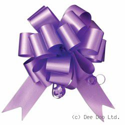 Purple Pull Bows - pk 20